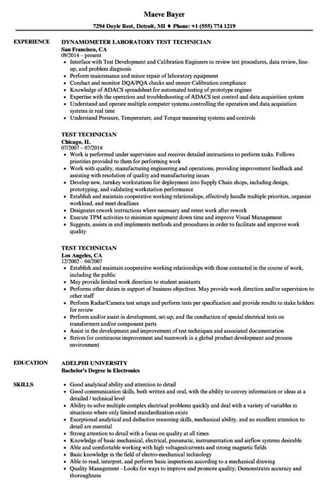 semiconductor test engineer resume exle battery test engineer sle resume warehouse distribution manager cover letter sles of