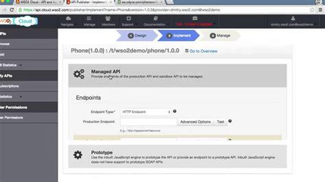 Tutorial Web Portal | create a simple api and publish to your web portal wso2