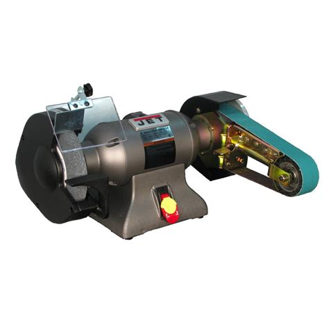 jet bench grinders jet 1 3 hp 1 in x 42 in benchtop belt and 8 in disc