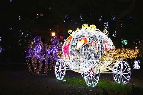 cinderella carriage christmas tree lights images