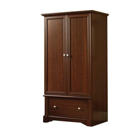 sauder homeplus wardrobe cabinet sauder palladia wardrobe armoire in cherry ebay