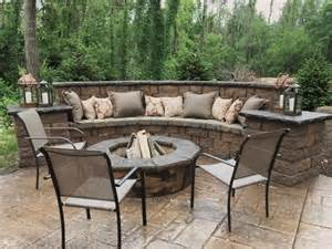 40 Backyard Fire Pit Ideas Steel Fire Pit And Steel - walkers concrete llc seating and retaining walls