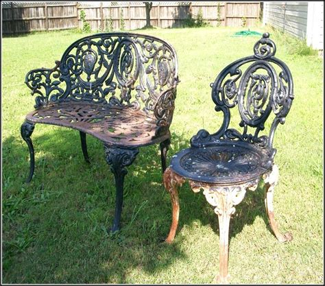 antique wrought iron patio furniture home outdoor