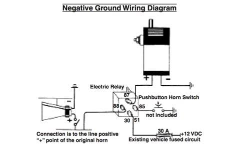 wiring diagram for oooga horn circuit for horn wiring
