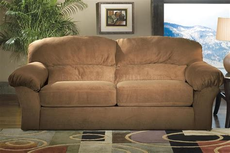 Suede Living Room Furniture Saddle Mircro Suede Casual Living Room W Sewn On Arm Pillows