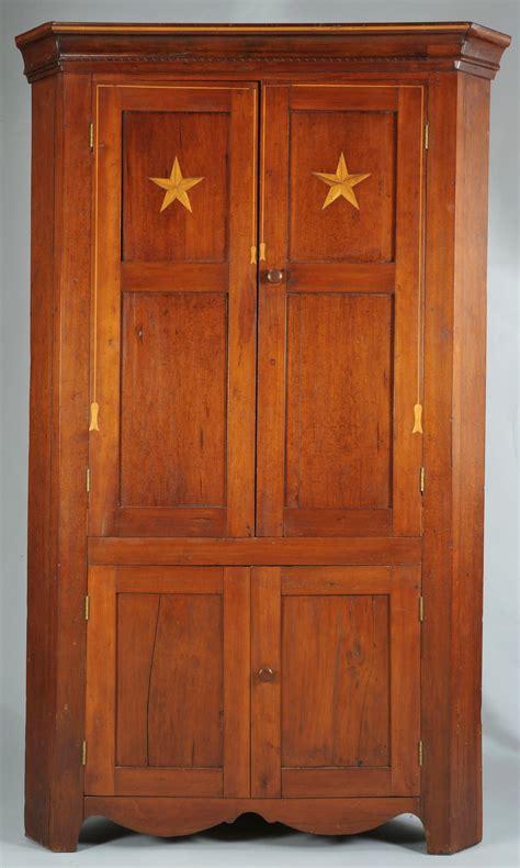 Cupboard Tn Lot 291 E Tn Cherry Corner Cupboard With Tassel Inlay