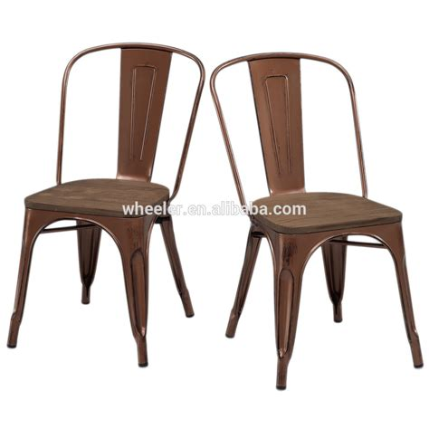 Tabouret Vintage Wood Seat Bistro Chair Tabouret Brushed Copper Wood Seat Bistro Chairs Buy Antique Metal Side Chairs Metal