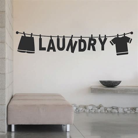 laundry wall stickers laundry wall decal 15m trendy wall designs