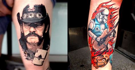 motorhead tattoo 20 tribute tattoos to mot 246 rhead and lemmy tattoodo