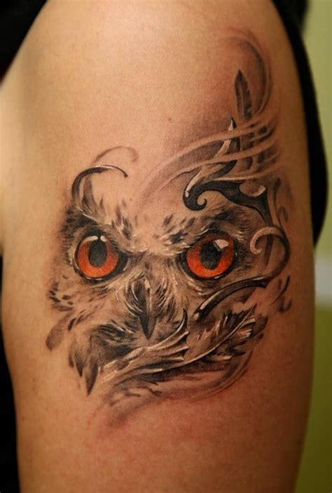 owl tattoo with green eyes owl eyes tattoo ideas tattoos and piercings pinterest