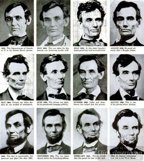 abraham lincoln biography in chronological order expert puts lincoln photographs in correct order 1955