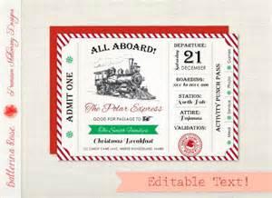 polar express invitation invite par