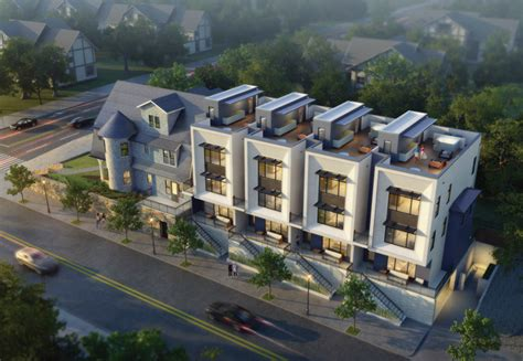 contemporary townhouse new multifamily project combines 1890s home and