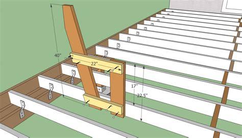 porch bench plans built in deck bench railing plans joy studio design