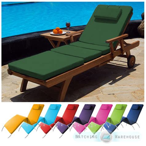 Sun Lounger Mattress by Waterproof Cushion Pad For Outdoor Garden Patio