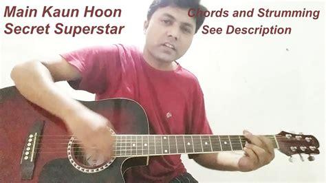 secret guitar cover kaun hoon secret superstar guitar cover chords