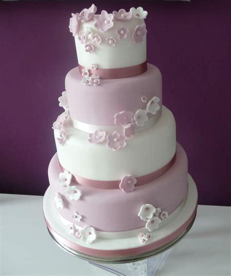 New Four Tier Wedding Cake Four Tier Pink White Wedding Cake Wedding Birthday