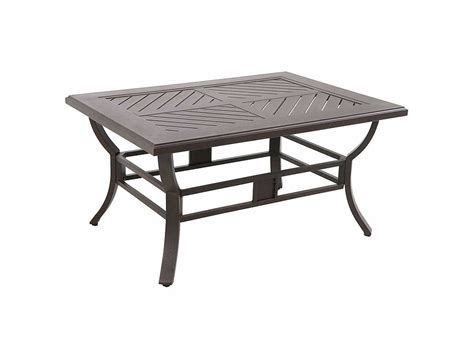 sunvilla allegro cast aluminum 44 x 32 rectangular coffee