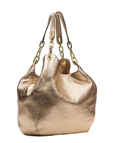 Michael Kors Fulton Large Shoulder Bag Pale Gold michael michael kors large fulton shoulder tote in