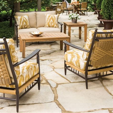 Country Patio Furniture Lloyd Flanders Low Country Vinyl Wicker Seat And Lounge Chair Patio Set Lf Lowcountry Set11