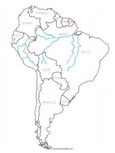 south america map with rivers river map south america
