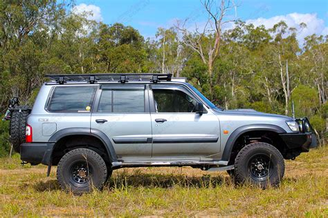 lifted silver nissan nissan patrol gu wagon silver 58152 superior customer