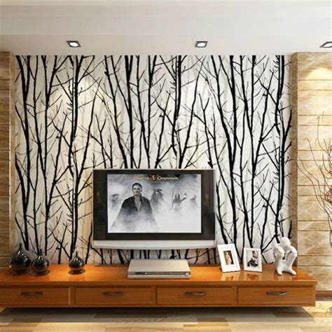 Tree Design Wallpaper Living Room by 1000 Images About Decorating On The Cabinet