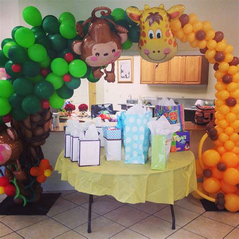 Jungle Theme Baby Shower Balloons by Baby Shower Balloon Decoration Balloons
