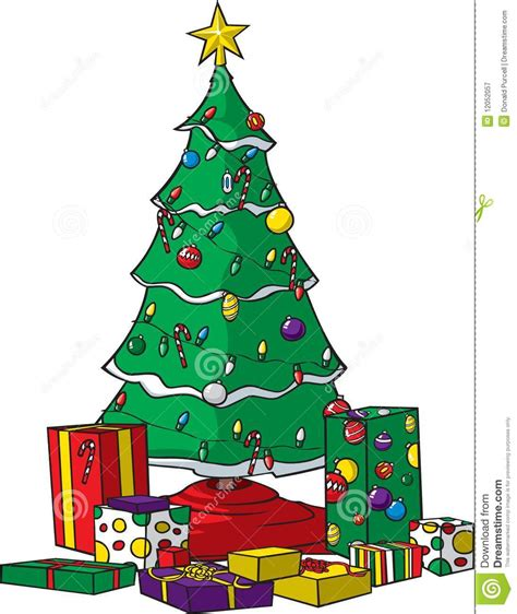 christmas tree with presents stock vector image 12052057