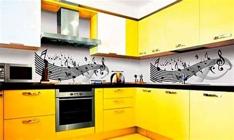 Unique Kitchen Furniture black and yellow color schemes for modern kitchen decor