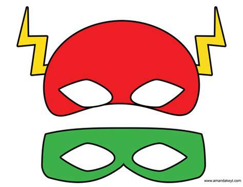 printable flash mask template justice league symbol clipart