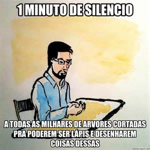 Meme Photo - 1 minuto de silencio