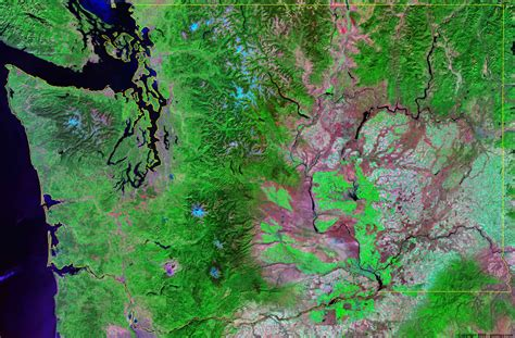 seattle map satellite washington satellite images landsat color image