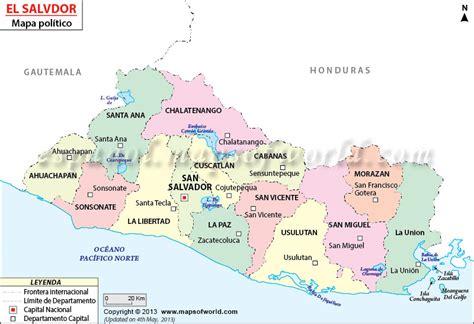 el salvador en el mapa mundi mapa de el salvador online world map