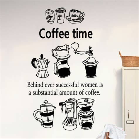 coffee wall stickers aliexpress buy coffee shop vinyl decal coffee cup