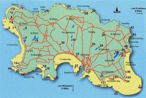 0004490363 carte touristique jersey en ile de jersey carte 187 vacances arts guides voyages
