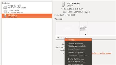 format fat32 mkfs how to format a usb storage no detected in ubuntu unix