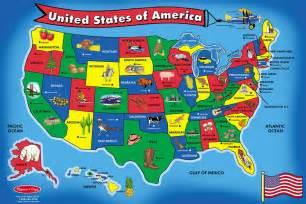 卡通版美国地图 欢迎下载哦 工程科学 寄托家园留学论坛