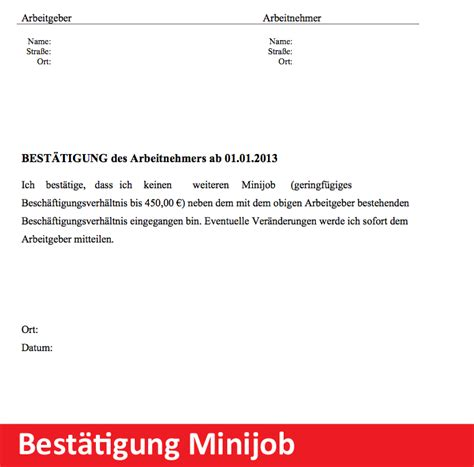 Wohnbestätigung Schreiben Muster Vorlage Best 228 Tigung Erkl 228 Rung Minijobber Convictorius