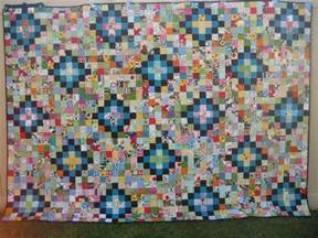 machine quilting squares and triangles