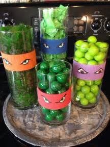 teenage mutant ninja turtle party let the kids pic some candy to take home in a goody bag