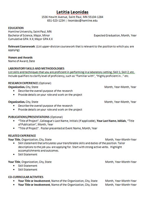 Scannable Resume Template by Scannable Resume Exle Resume Ideas