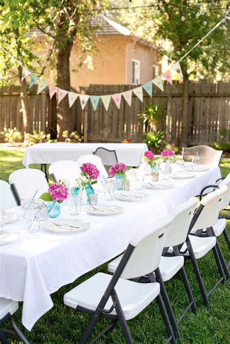 how to decorate my backyard for a party domestic fashionista backyard birthday fun pink hydrangeas polka dot napkins