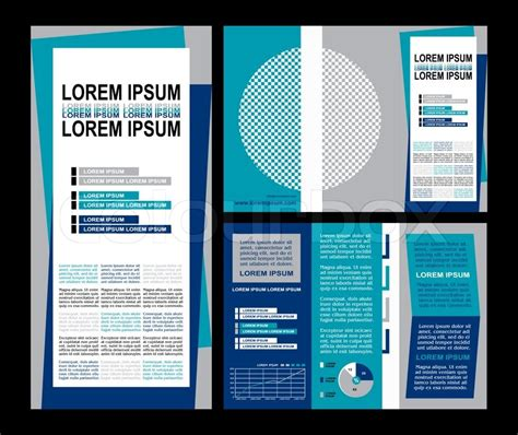 three page brochure template business brochure layout three fold flyer template design