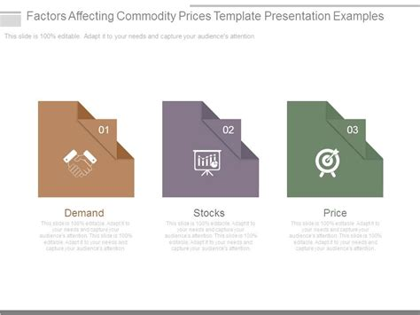 commodity strategy template factors affecting commodity prices template presentation