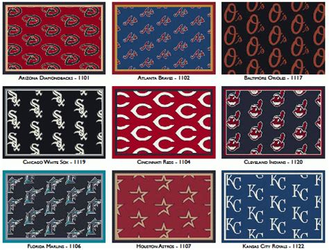 Team Rugs by Mlb Repeat Pattern Team Rugs Stargate Cinema