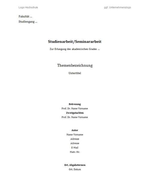 Vorlage Word Hausarbeit Kostenlose Vorlage F 252 R Ihre Studienarbeit Seminararbeit