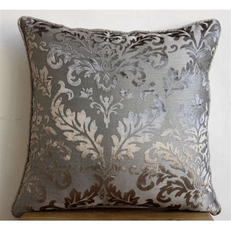 gray pillows luxury grey throw pillow covers 16x16 burnout