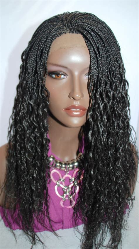 micro braid wigs braided lace front wig micro braids color human hair