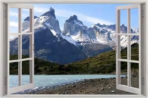 Mountain Wall Mural Huge 3d Window View Exotic Mountain Wall Sticker Film
